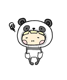 Panda girls colored