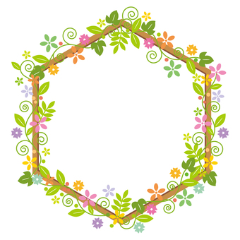 Flower-decorative frame