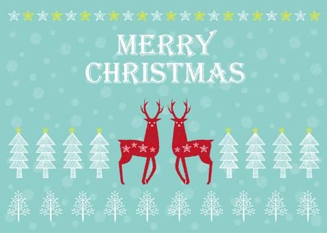 Scandinavian style Christmas card 2