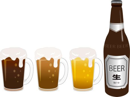 Bottle beer mug set