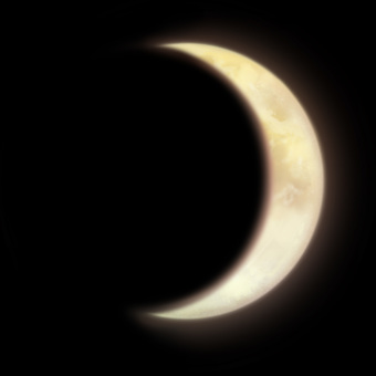 Crescent moon (with transparent png)