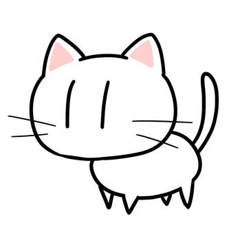 ねこ(白)
