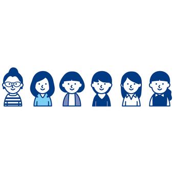 Various women