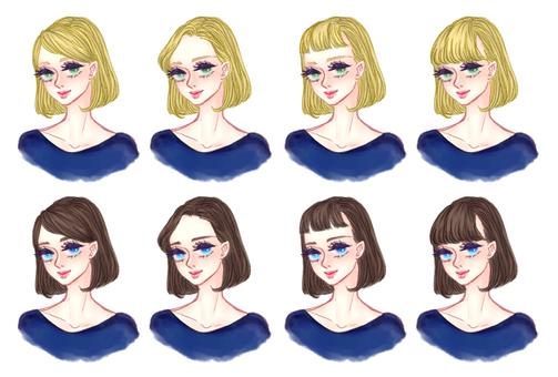 "Girls' hair style ""Bob A"""
