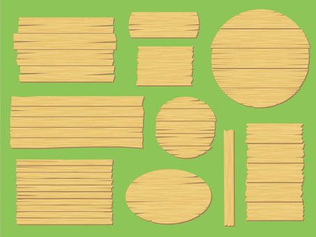 Wooden signboard [natural]