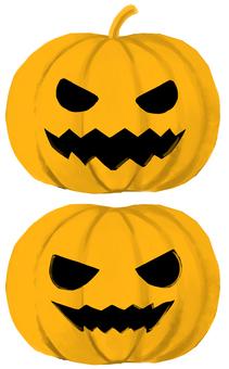 Halloween pumpkin two set