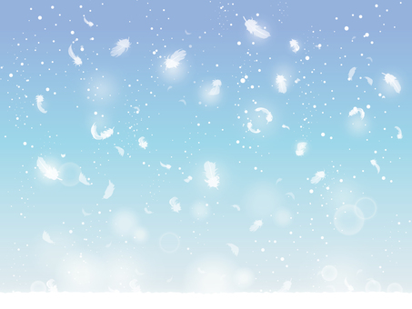 Snow and feathers piled up 01