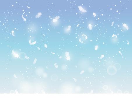 쌓이는 눈과 날개 01