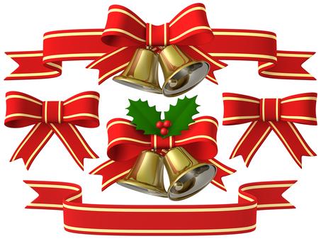 Christmas Bell Ribbon Set 3