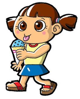 吃冰的女孩