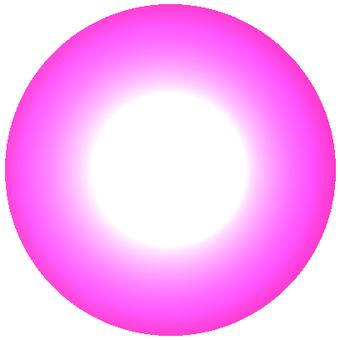 LED Pink Round