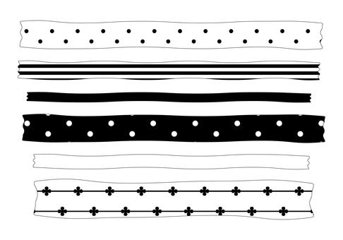 Monochrome ribbon