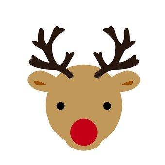 Xmas - reindeer face 01