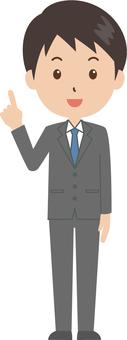 Male | salaried worker | suit | fingering