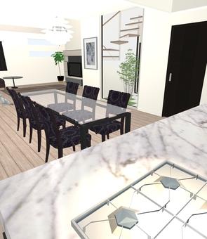 5LDK Floor Plan ① (3D figure · LDK 2)