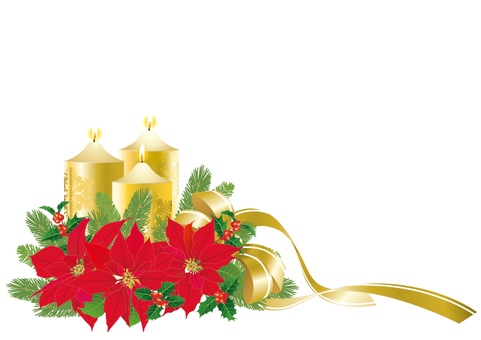 Christmas _ Arrangement _ White background