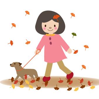 A girl taking a walk