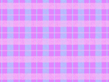 체크 무늬 핑크 × 하늘색 × 퍼플