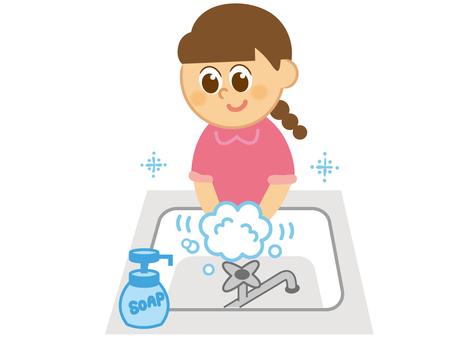 Children _ Hand wash _ Girls
