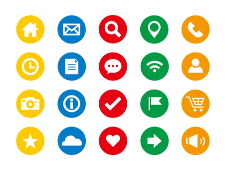 Basic icon set (colorful)
