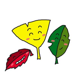The fallen leaves talk. Lol