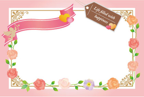 Flower and angel card