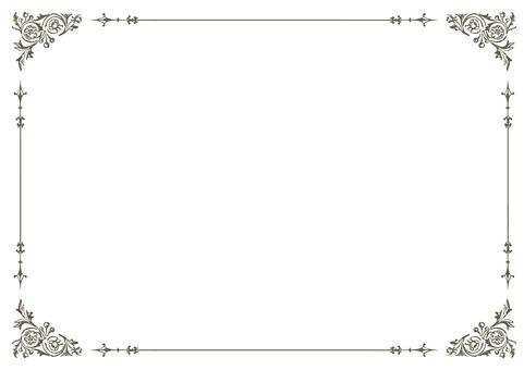 ビンテージ文様フレーム94-3