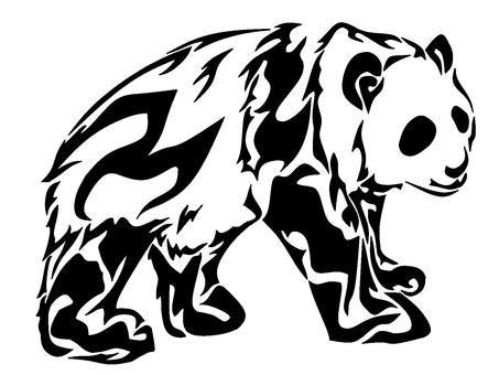 흑백 아트 부족 팬더