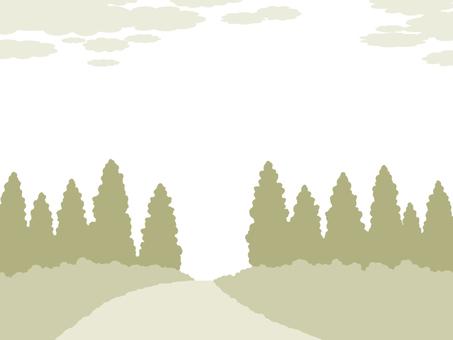 삼나무 숲 프레임 벽지 간단한 배경 일러스트 풍경