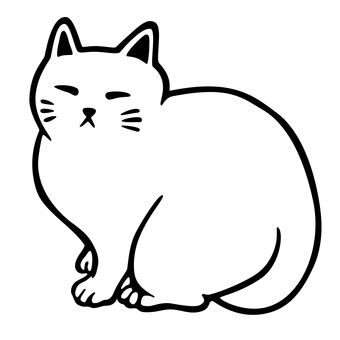 Cat_line drawing 6