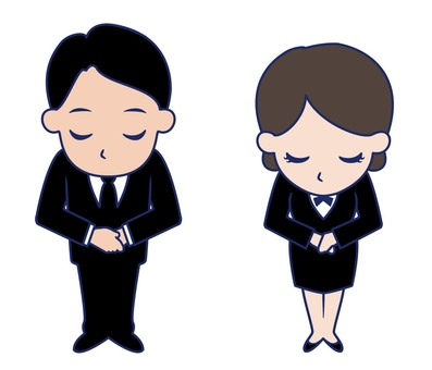 Men and women who bow