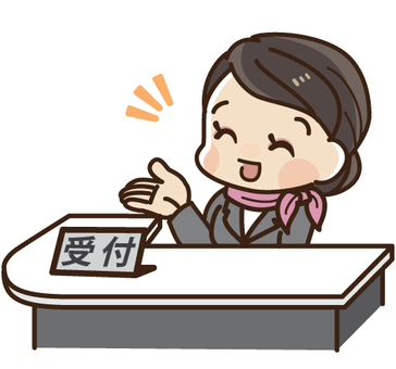 A receptionist of a company to guide