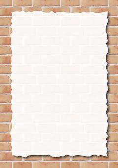 Brick background card