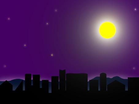 A quiet moonlit night