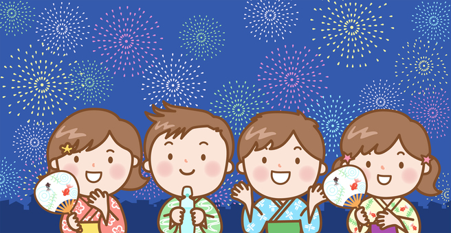 Children: fireworks