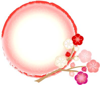 매화의 꽃 마루 프레임 프레임