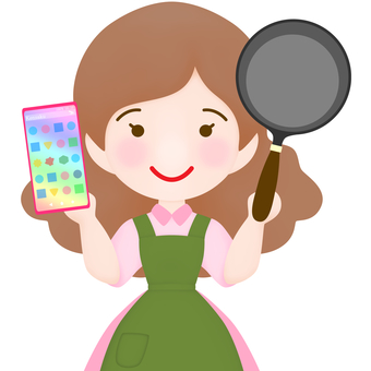 Cooking mama with a smartphone