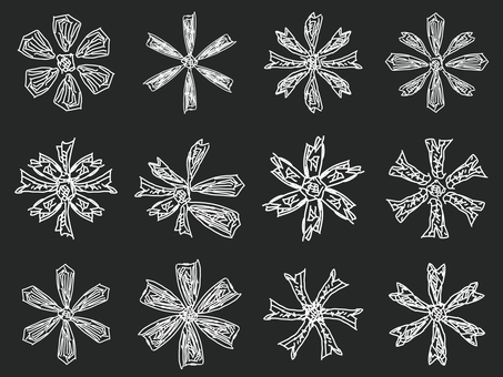 Handwritten snowflake (png background transparent)