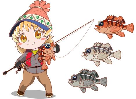Fishing Girl Movering