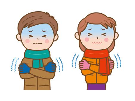 Winter cold illustration