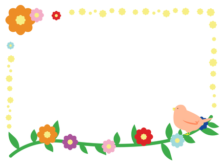 Bird and flower decorative frame