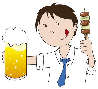 Beer and yakitori 3
