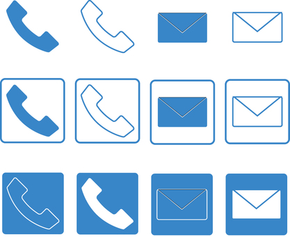 Contact us icon blue