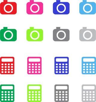 Icon _ camera and calculator