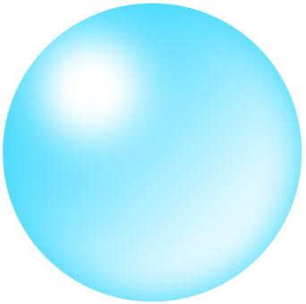 Light blue glass ball