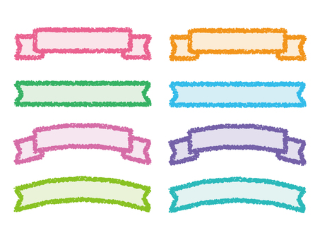 Set of crayon style ribbon