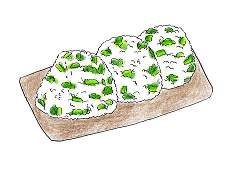 Rice ball of rice