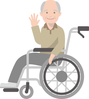 Elderly people riding in wheelchairs -1