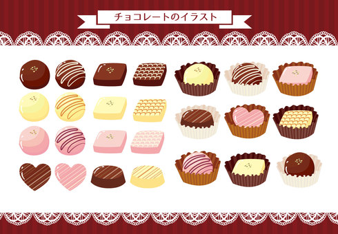 Illustration material of chocolate
