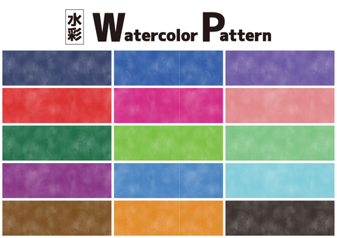 Watercolor pattern set color